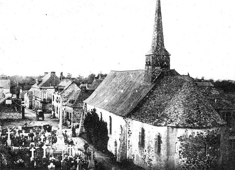 Bréal-sous-Vitré - Eglise et Rue principale