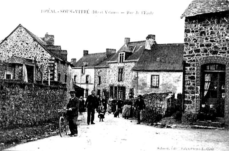 Bréal-sous-Vitré - Rue de l'Ecole